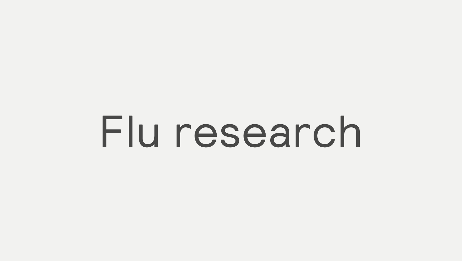 Flu test research